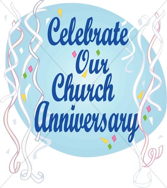 Clipart of church anniversary clip free Celebrate Church Anniversary | Church Word Art clip free