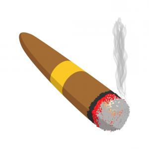 Clipart of cigar picture freeuse download Cigar Icon On White Background Vector Clipart | SOIDERGI picture freeuse download