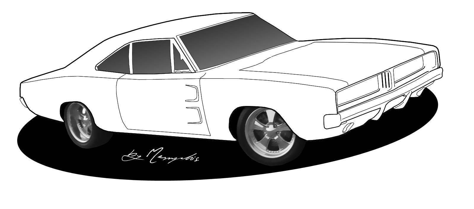 Clipart of classic american cars black and white graphic transparent stock Free Black And White Car Drawings, Download Free Clip Art, Free Clip ... graphic transparent stock