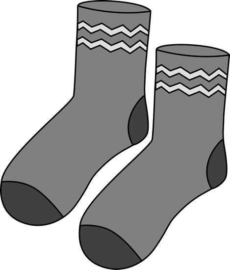 Clipart of clipart vector black and white Sock Clip Art - Sock Images vector black and white