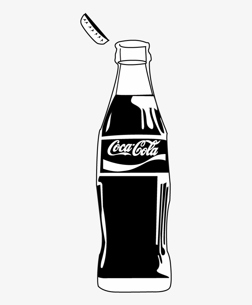 Coca cola bottle clipart black and white vector transparent stock Coke Bottle Png Download - Black And White Coca Cola Bottle PNG ... vector transparent stock