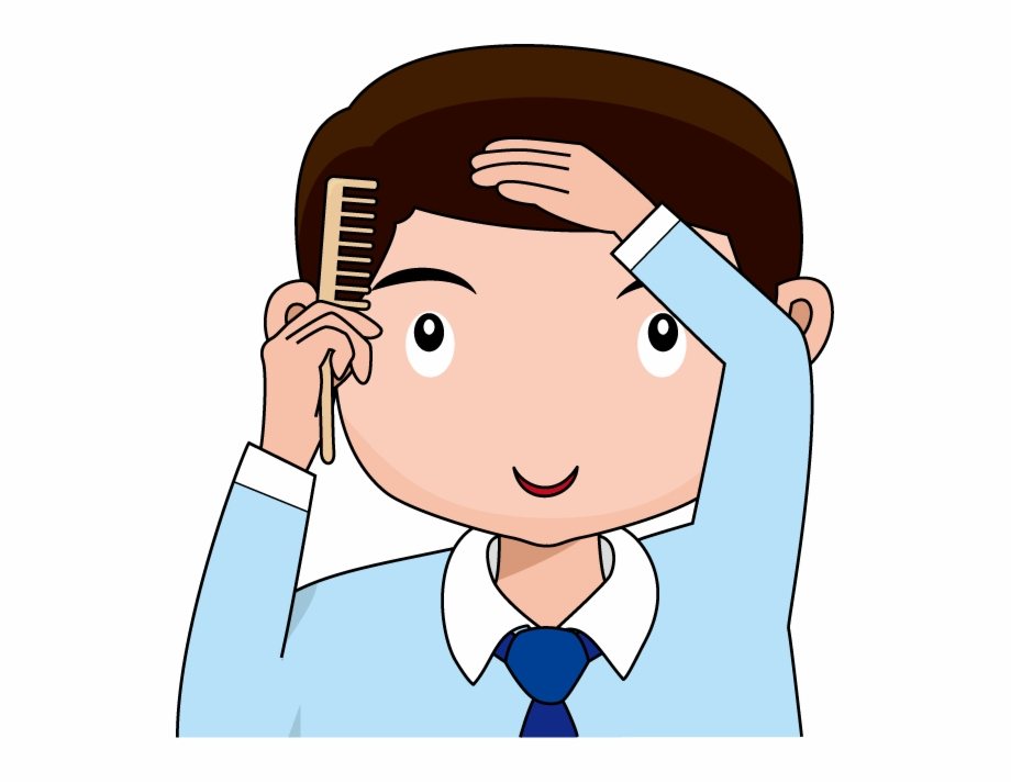 Comb your hair clipart jpg Svg Library Collection Of Combing High Quality Free - Comb Hair Clip ... jpg