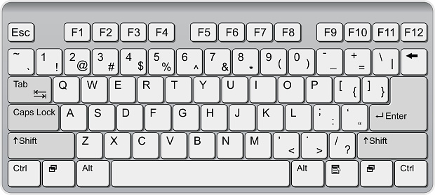 Clipart of computer keyboard png library library Qwerty keyboard clipart - ClipartFest png library library