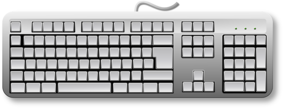 Clipart of computer keyboard vector free Public Domain Clip Art Image | Blank Generic Keyboard | ID ... vector free