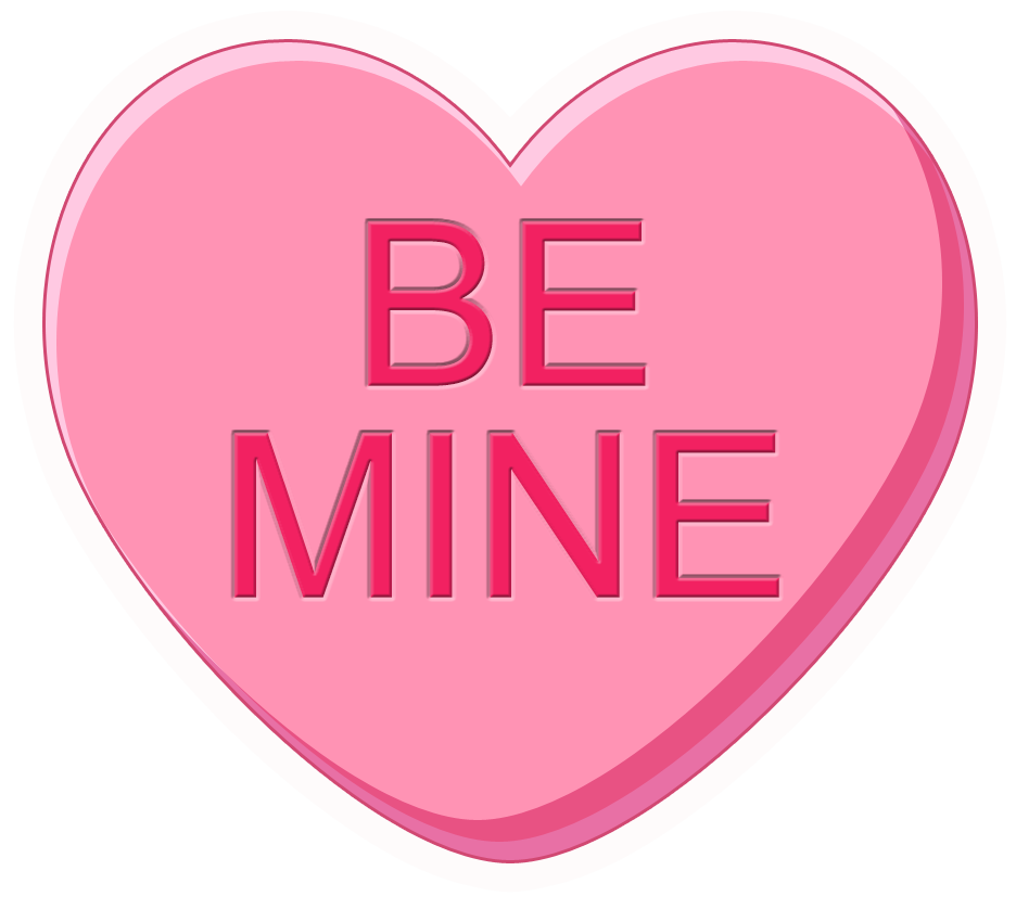 Clipart of conversation hearts with be mine clipart freeuse download Conversation Hearts clipart freeuse download