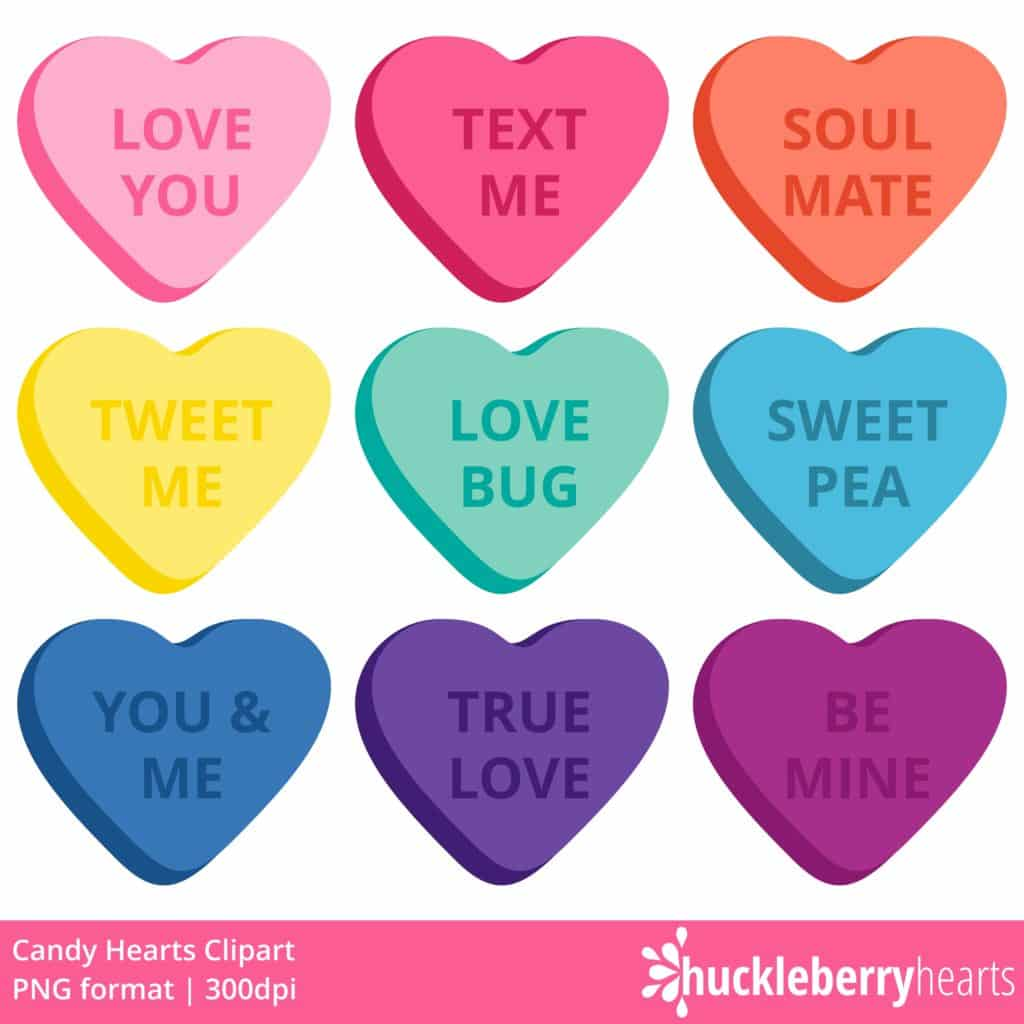 Valentine conversation hearts clipart jpg library stock Candy Hearts Clipart jpg library stock