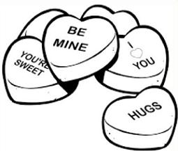 Clipart of conversation hearts with be mine image free download Free Candy Hearts Clipart image free download