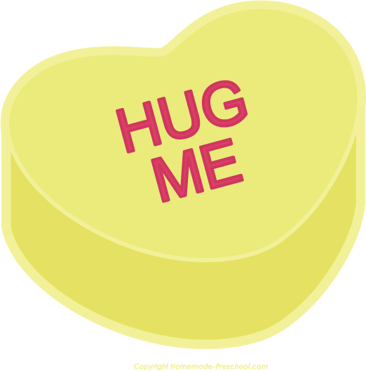 Clipart of conversation hearts with best friends. Valentine clip art s