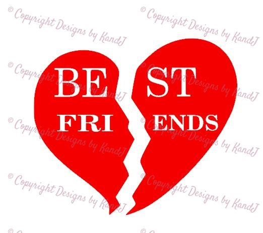 Split heart svg broken. Clipart of conversation hearts with best friends