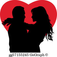Clipart of couples in love jpg transparent download Couple In Love Clip Art - Royalty Free - GoGraph jpg transparent download