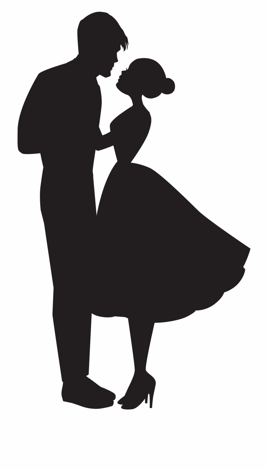 Couple in love clipart black and white