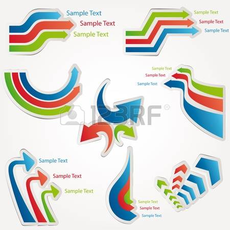 Clipart of curved line arrow.  curve stock vector