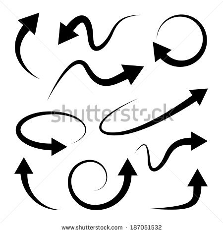 Clipart of curved line arrow black and white download Curved Arrow Stock Images, Royalty-Free Images & Vectors ... black and white download