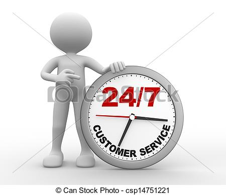 Clipart of customer service people png freeuse download Clip Art of Customer service - 3d people - man, person a clock ... png freeuse download
