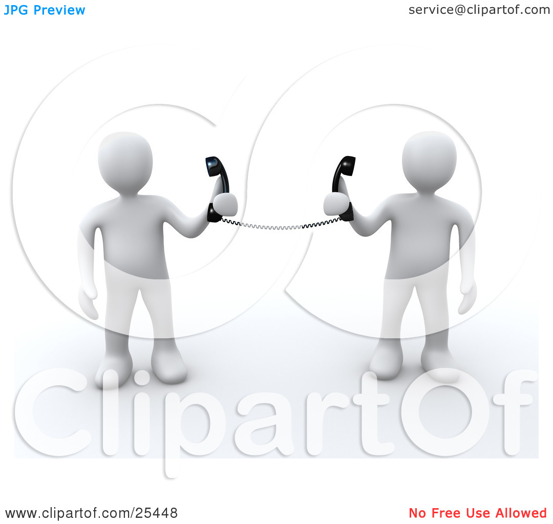 Clipart of customer service people png freeuse download Clipart Illustration of a Two White People Holding Telephone ... png freeuse download