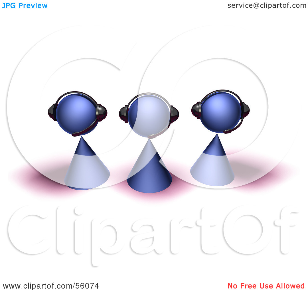 Clipart of customer service people image freeuse stock Royalty-Free (RF) Clipart Illustration of a Group Of Three 3d ... image freeuse stock