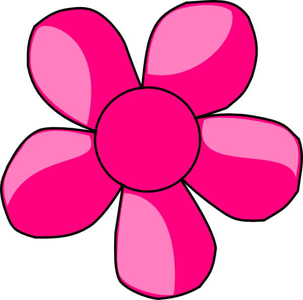 Daisy flower clipart free. Pink panda images pinkdaisyflowerclipart