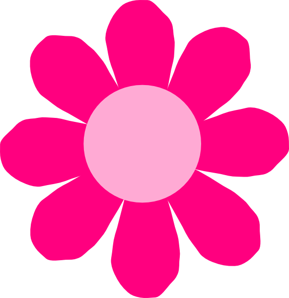 Pink clip art at. Daisy flower clipart free