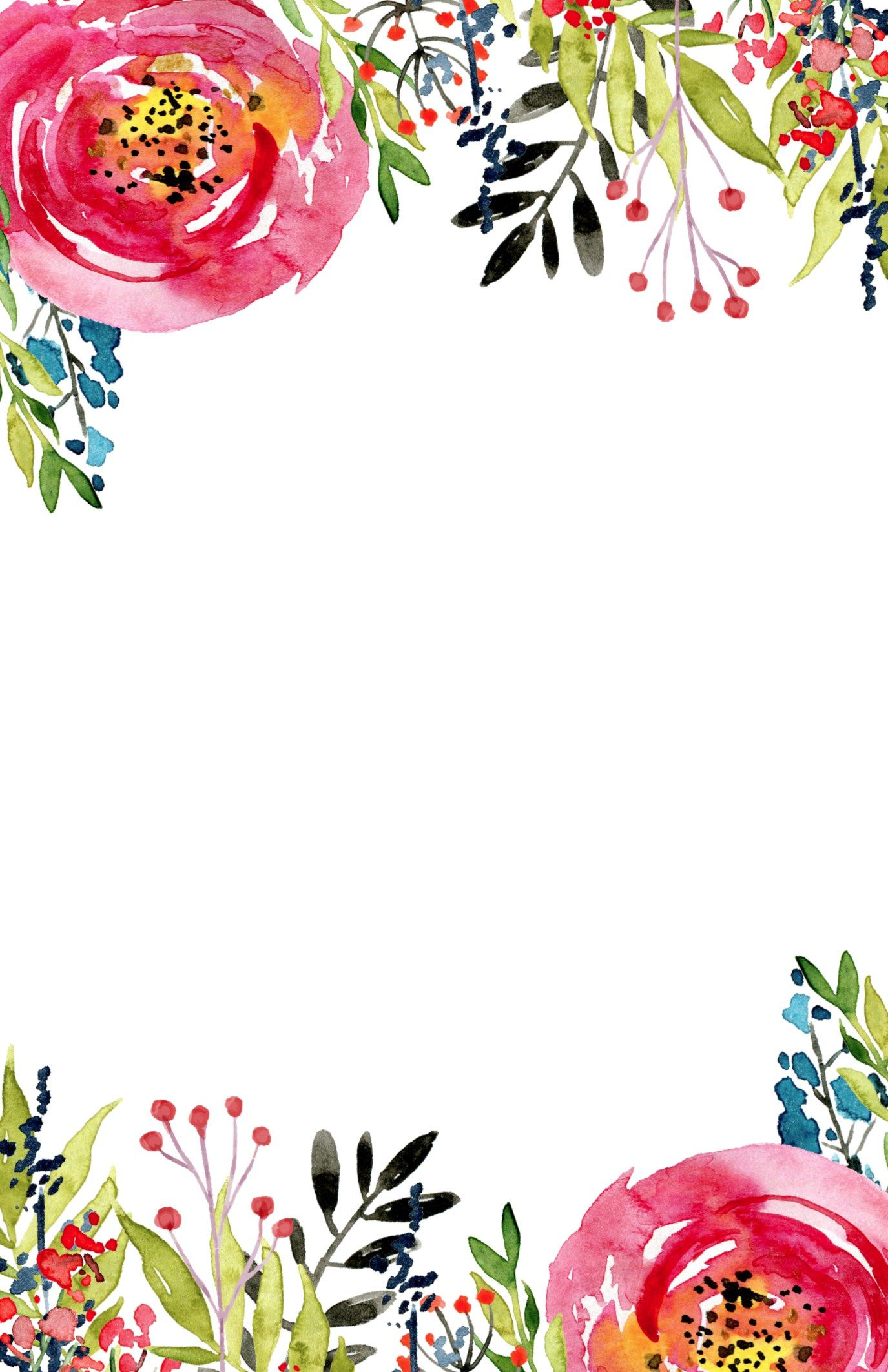 Bridal shower flowers clipart svg free Floral Invitation Template {free printable | Wallpapers ... svg free
