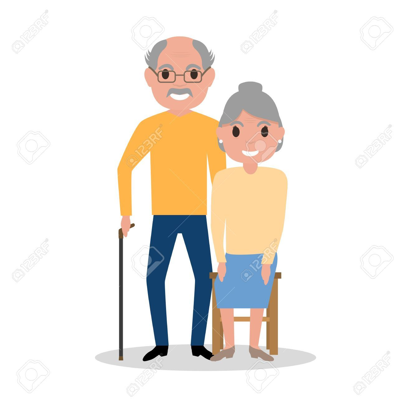 Clipart of different aged people clipart royalty free Vector elderly couple grandparents, aged people » Clipart Portal clipart royalty free