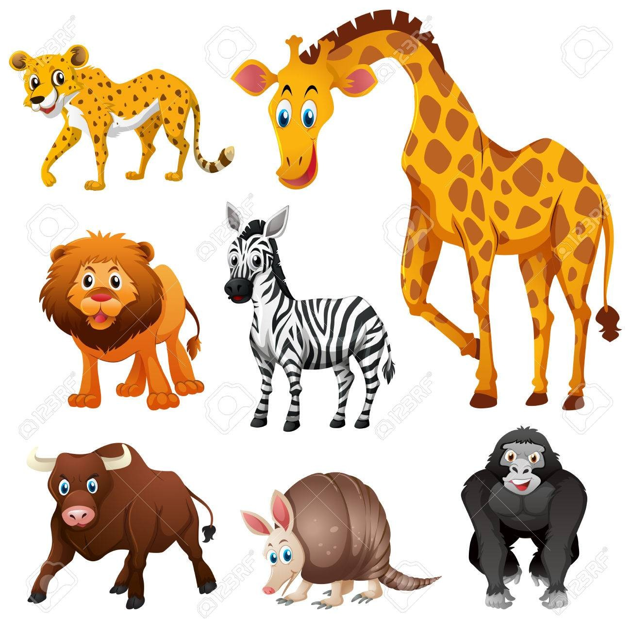 Clipart of different animals picture freeuse download At Jungle Animals Clipart Vector 78845815 Different Types Of Animal ... picture freeuse download