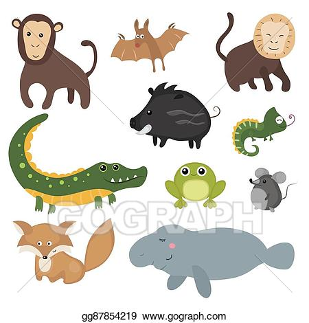 Clipart of different animals svg royalty free stock EPS Illustration - Vector set of different animals of. Vector ... svg royalty free stock
