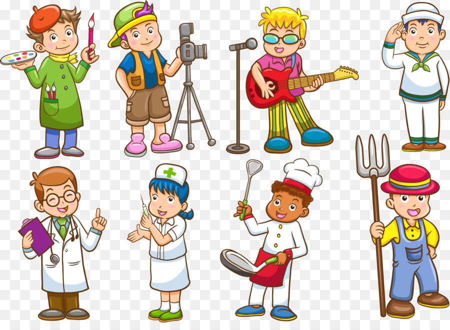 Cartoon occupations clipart jpg freeuse download Different Types Of Occupation PNG Job Profession Clipart download ... jpg freeuse download