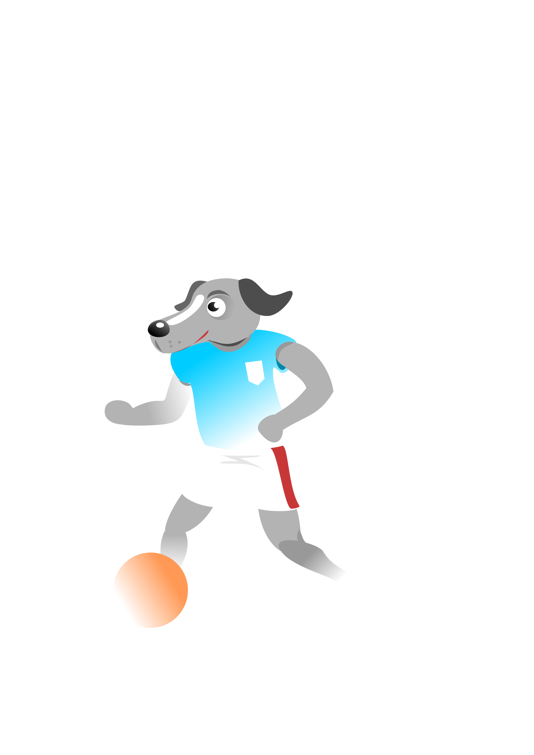 Football dog clipart vector black and white stock Clipart - Soccer Dog vector black and white stock