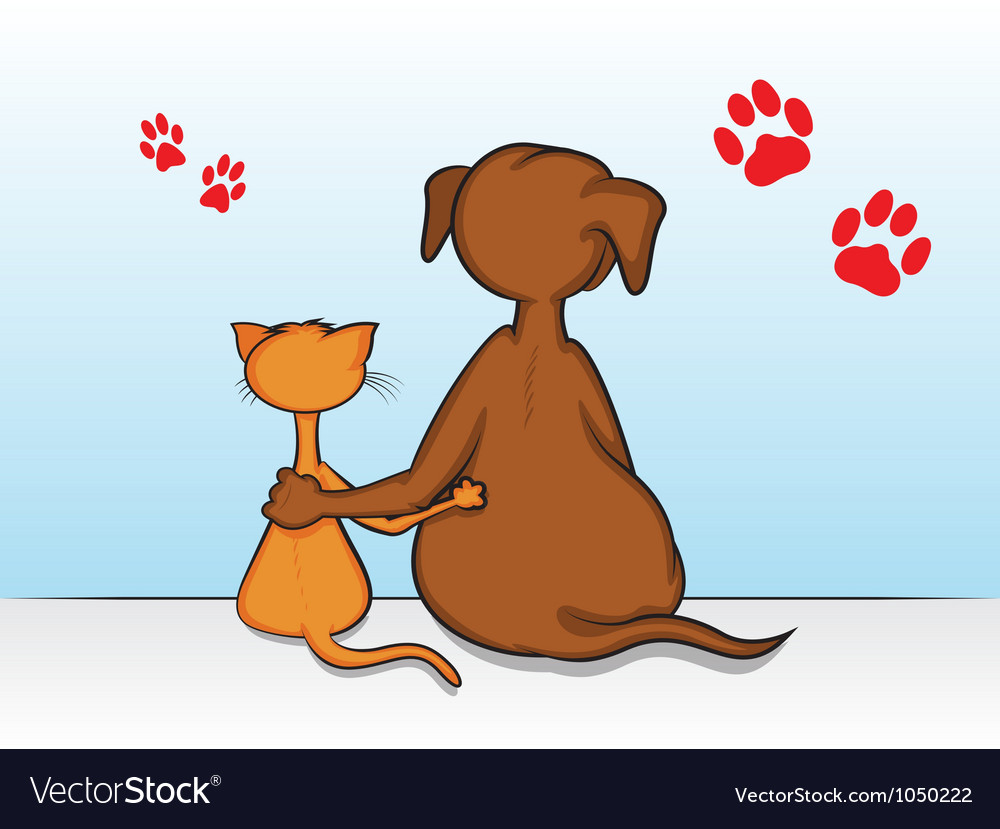 Clipart of dogs and their friends free picture freeuse download Cat Dog Friends picture freeuse download