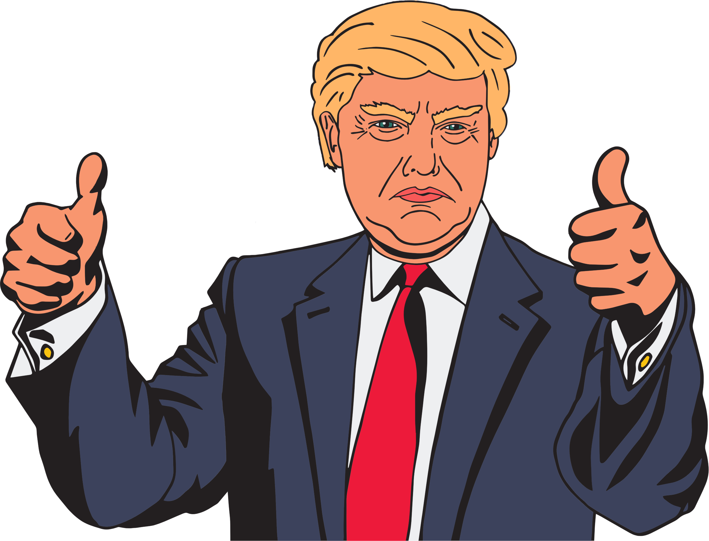 Trump clipart images banner black and white download Donald Trump Vector Clipart image - Free stock photo - Public Domain ... banner black and white download