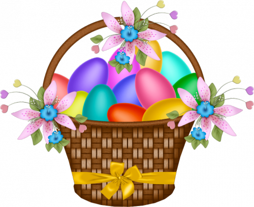 Clipart of easter basket clipart freeuse Easter_Basket_with_Yellow_Ribbon.png?m=1362178800 clipart freeuse