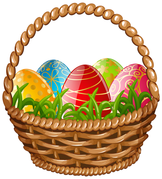 Easter basket clipart with a cross in it jpg freeuse library Easter Egg Basket PNG Clip Art Image | EASTER ♥ | Pinterest ... jpg freeuse library