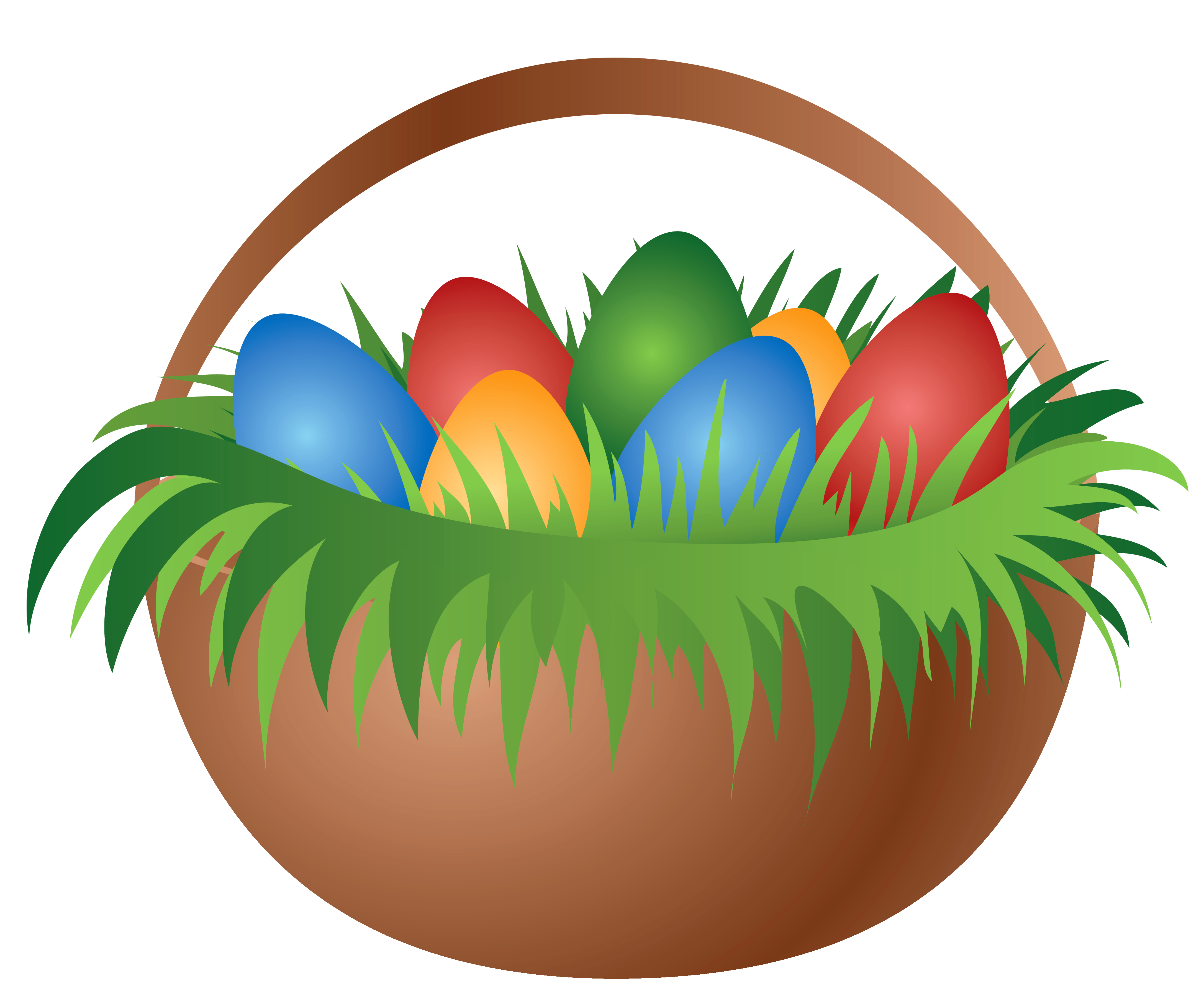 Clipart of easter basket black and white stock Painted Easter Basket with Easter Eggs PNG Picture black and white stock
