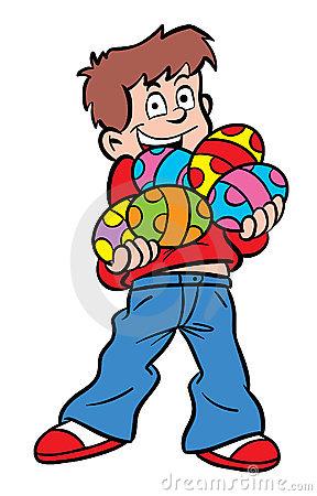 Clipart of easter egg hunt svg download Cartoon Boy On An Easter Egg Hunt. Stock Vector - Image: 49999990 svg download
