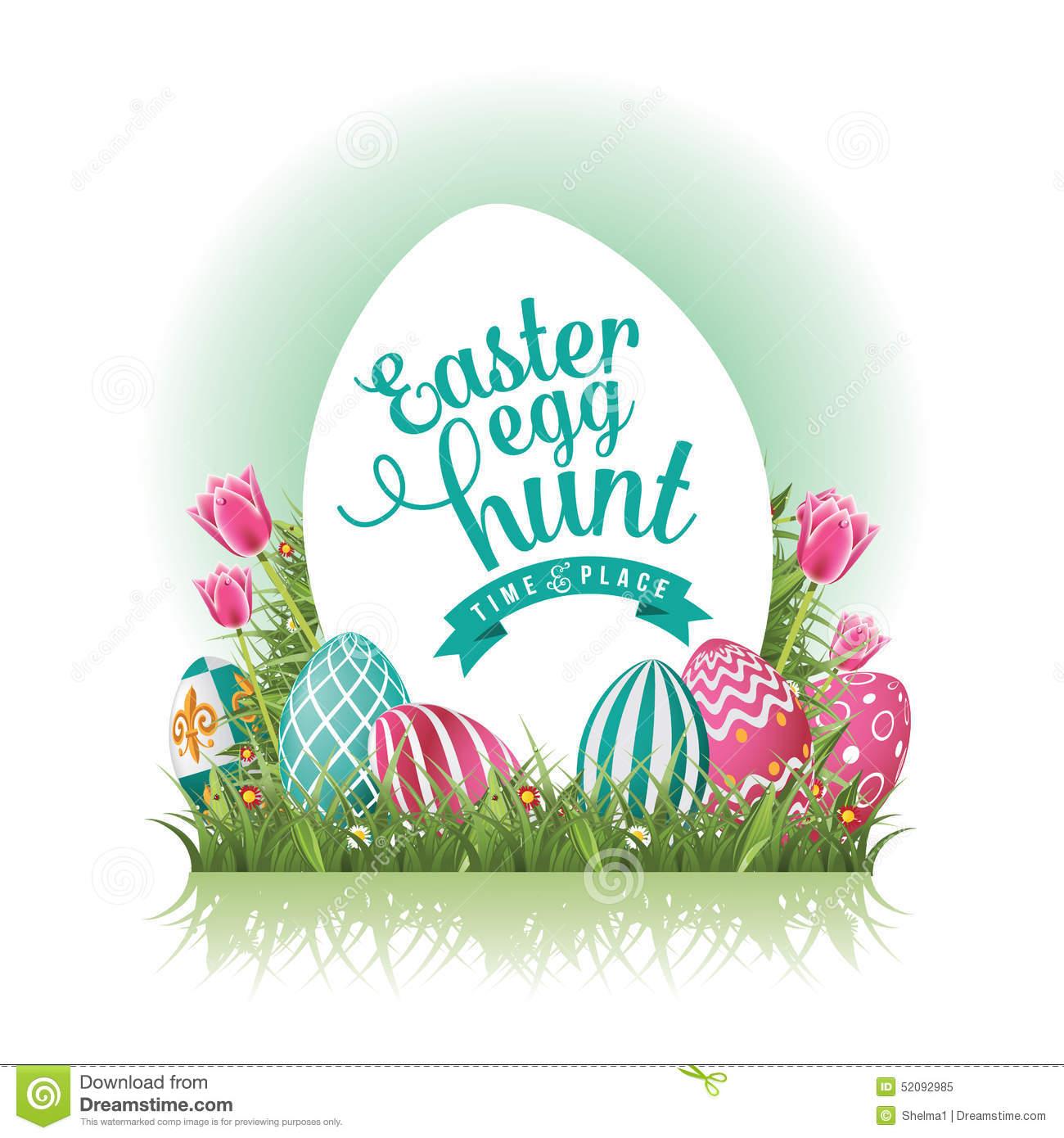 Clipart of easter egg hunt free stock Easter Egg Hunt Design EPS 10 Vector Stock Vector - Image: 52092985 free stock