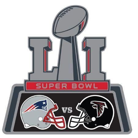 Clipart of falcons and patriots super bowl 2017 svg black and white library NFL New England Patriots Vs Atlanta Falcons Super Bowl 51 Dueling ... svg black and white library