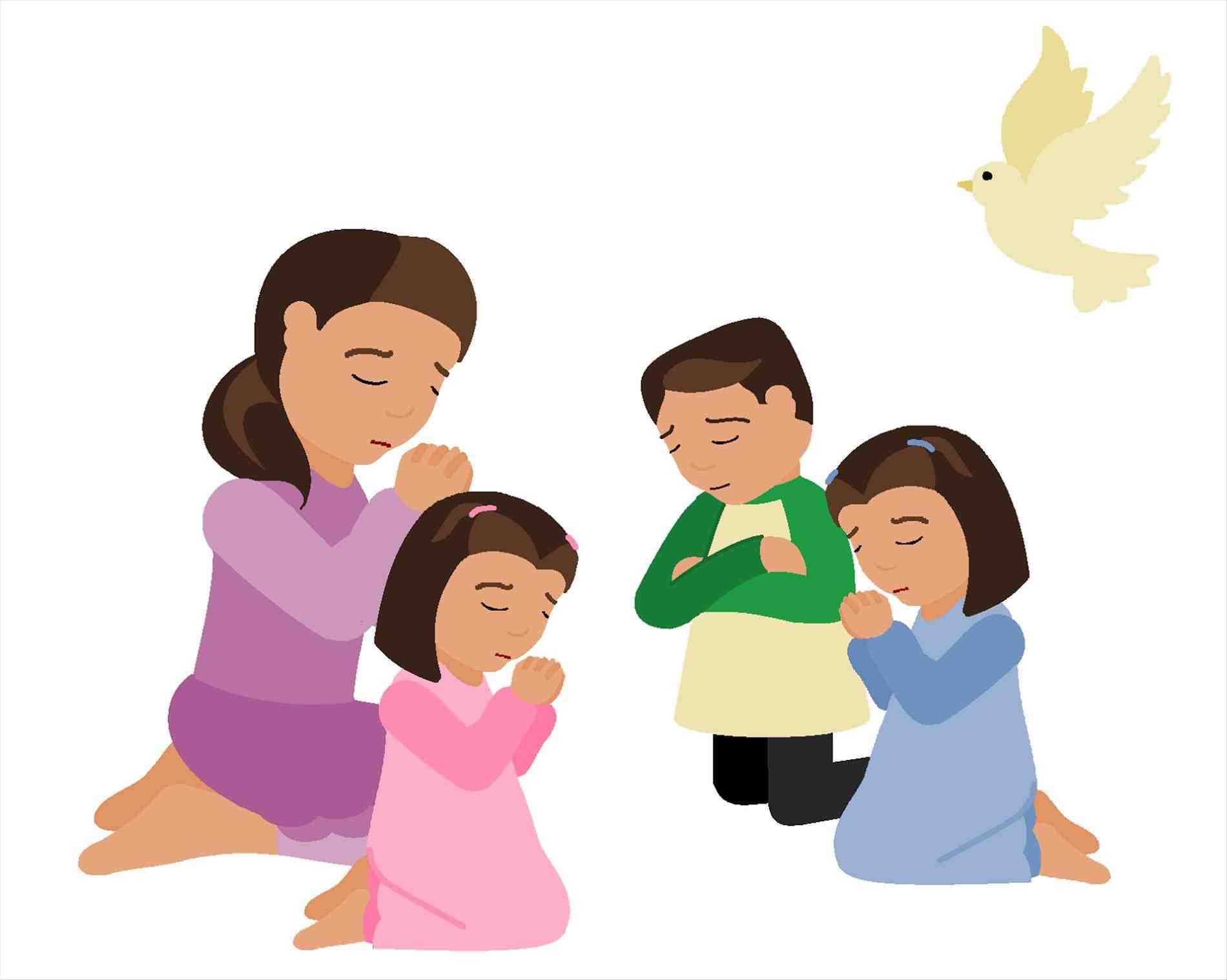 Clipart of family praying