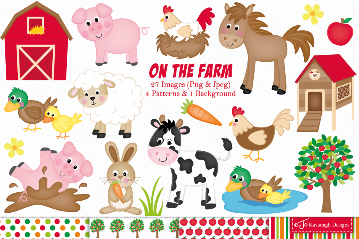 Clipart of farm animals picture library Farm clipart, Farm animals graphics & illustrations -C11 picture library