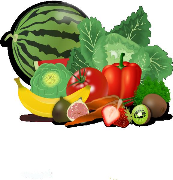 Clipart of fat cat eating vegetables image black and white download Fruit Border Clip Art   Fruits, Veggies, Healthy clip art   a little ... image black and white download