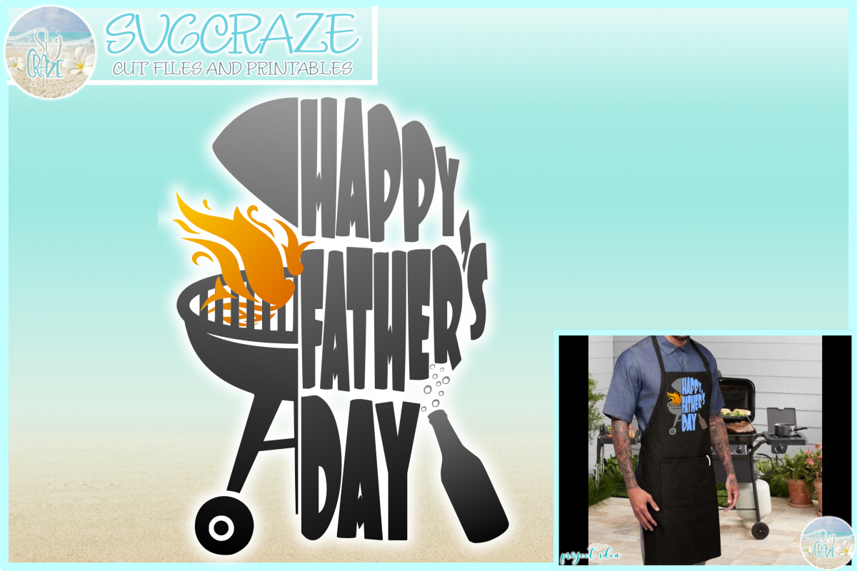 Clipart of fathers day svg grill jpg free stock Happy Fathers Day with Grill and Flames SVG jpg free stock