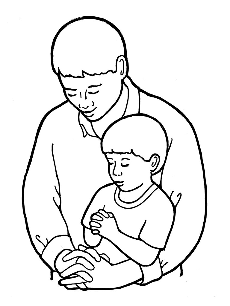 Picture of father clipart black and white clipart freeuse stock Free Father Praying Cliparts, Download Free Clip Art, Free Clip Art ... clipart freeuse stock
