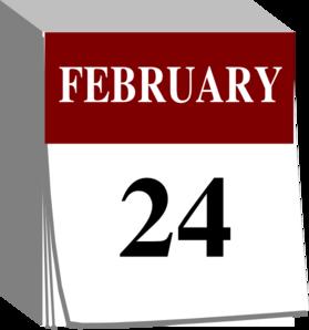Clipart of february calendar. Clip art at clker