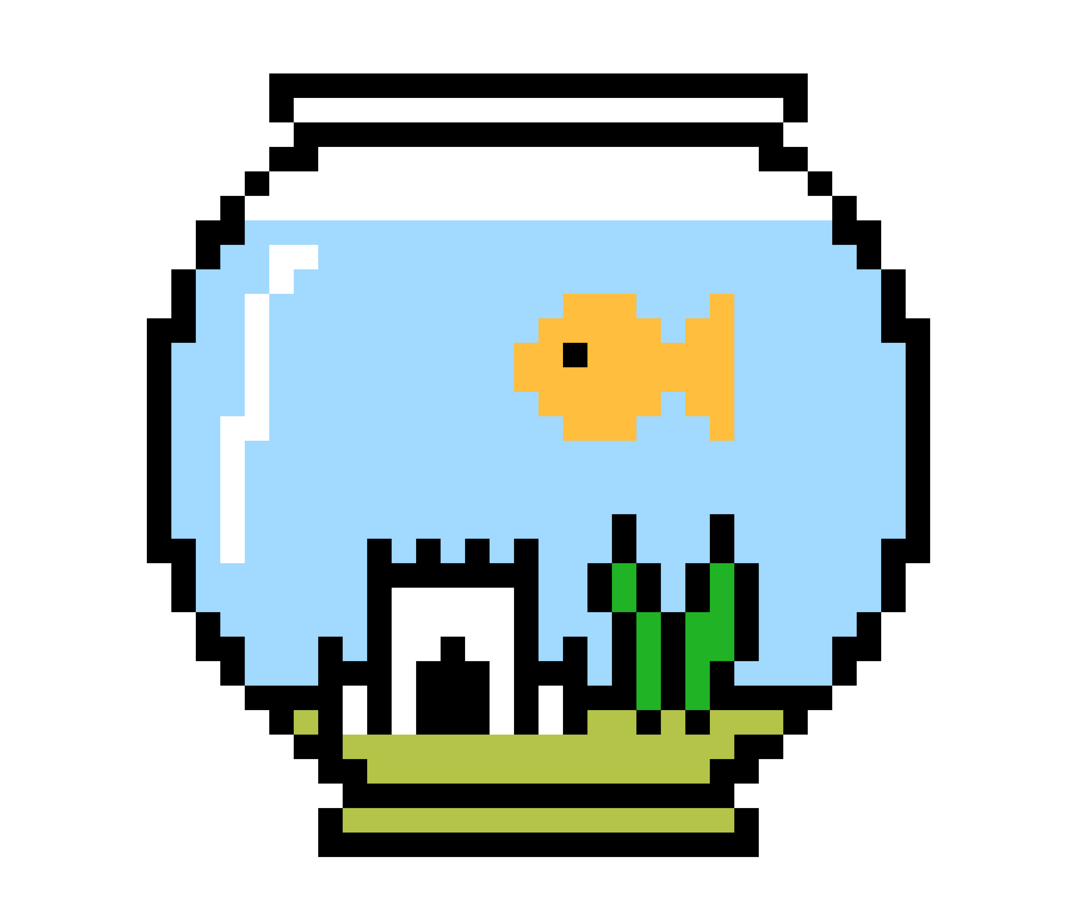 Clipart of fish and fish bowl vector library download Fish bowl with Larry inside. | Pixel Art Maker vector library download