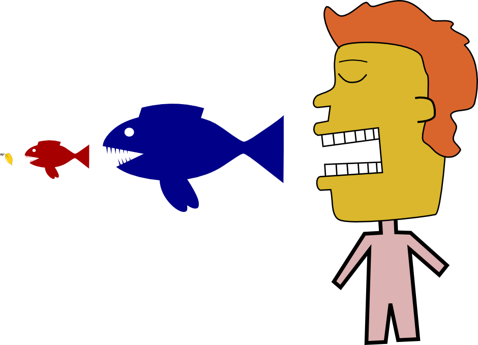 Pond with fish clipart image stock Tiny Fish in the pond, Human Existence: A Potential Metaphor image stock