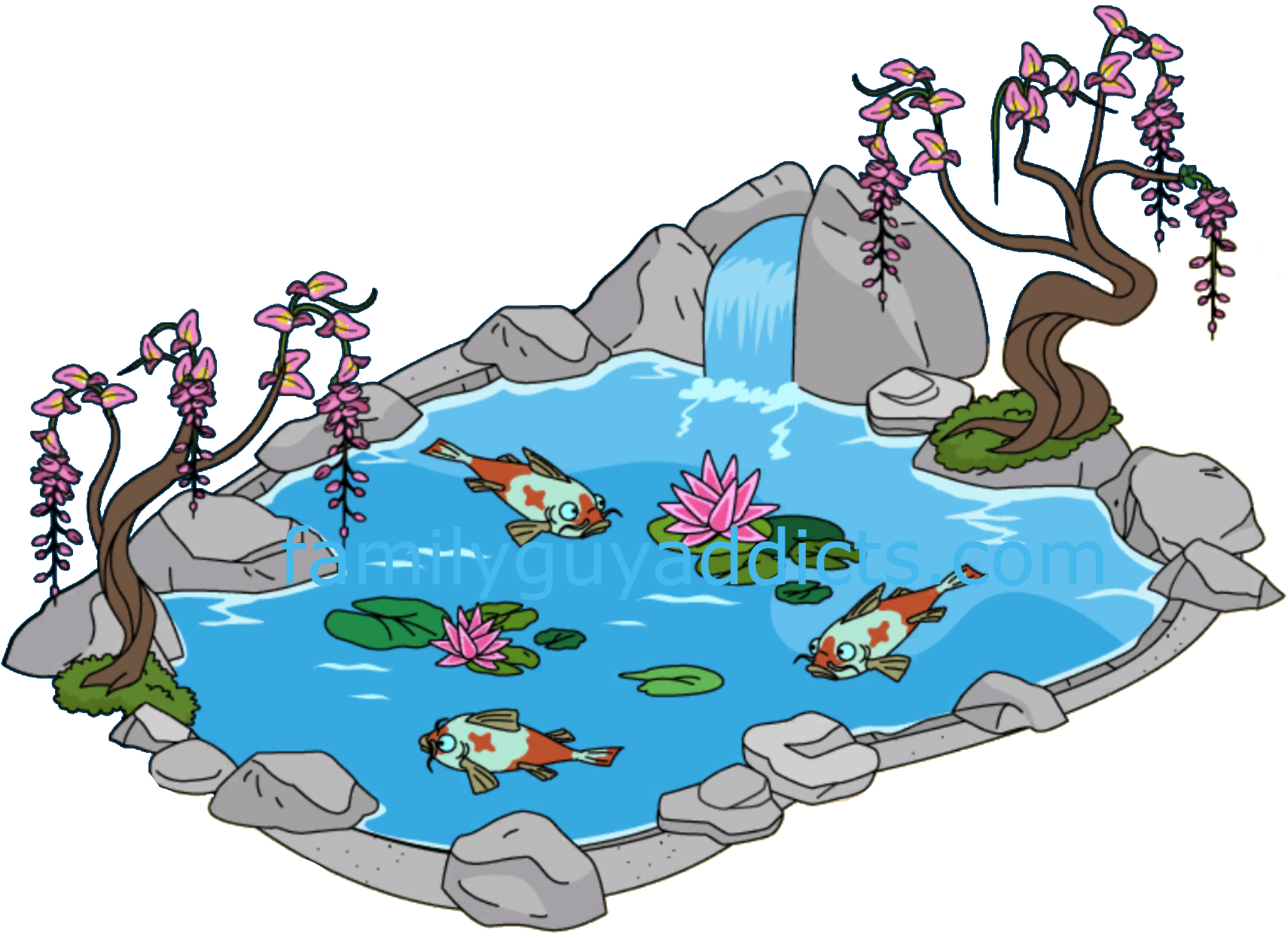 Fish pound clipart png freeuse library 28+ Collection of Koi Pond Clipart | High quality, free cliparts ... png freeuse library