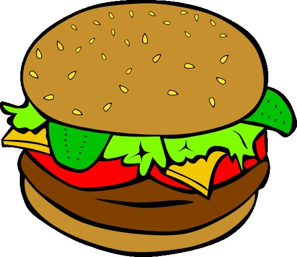 Hamburger and hot dog clipart vector library library Hamburger Clipart Black And White | Clipart Panda - Free Clipart Images vector library library