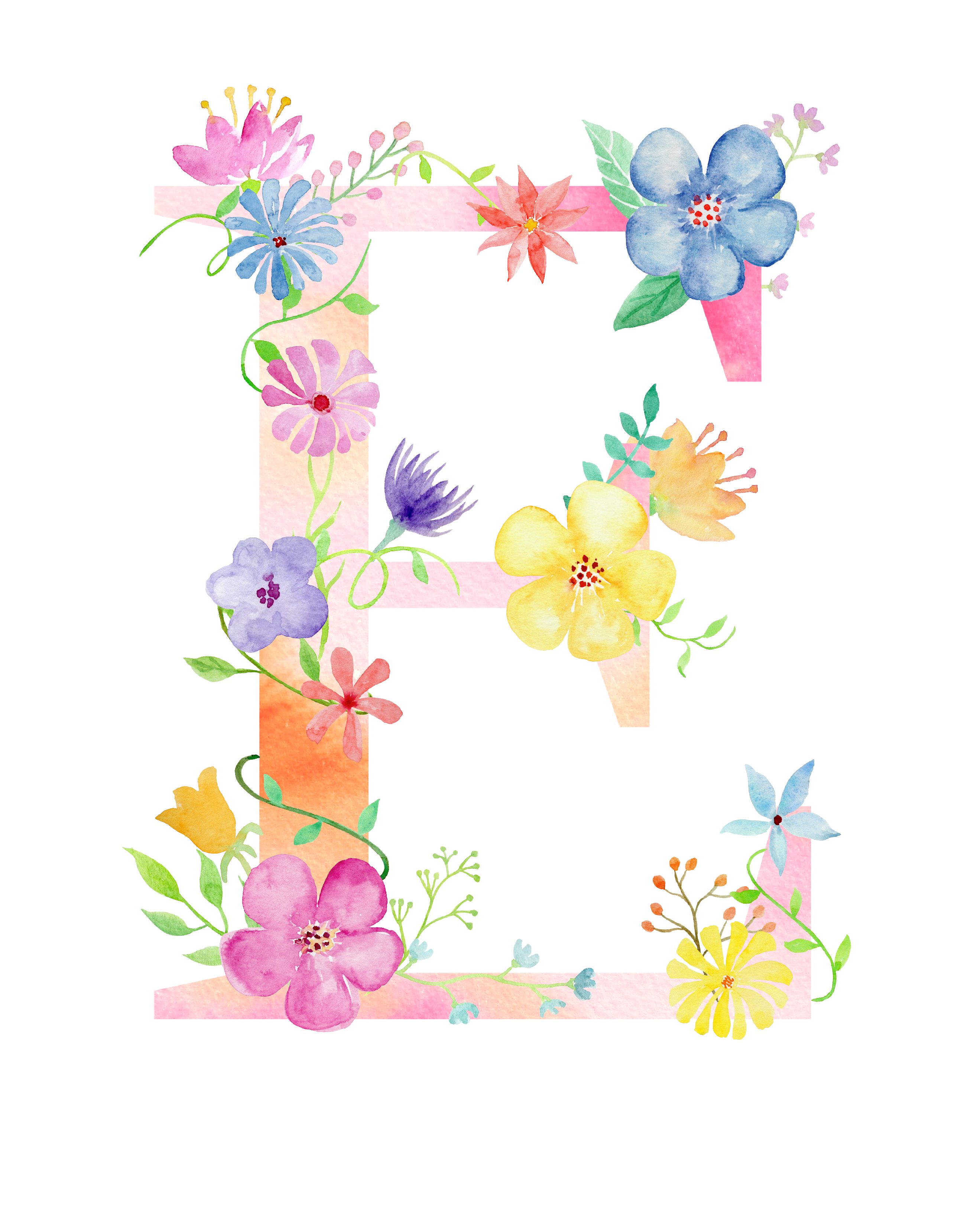 Clipart of flower letters that say pretty clipart royalty free stock Pin by daro kampung on alphabet | Floral letters, Lettering ... clipart royalty free stock
