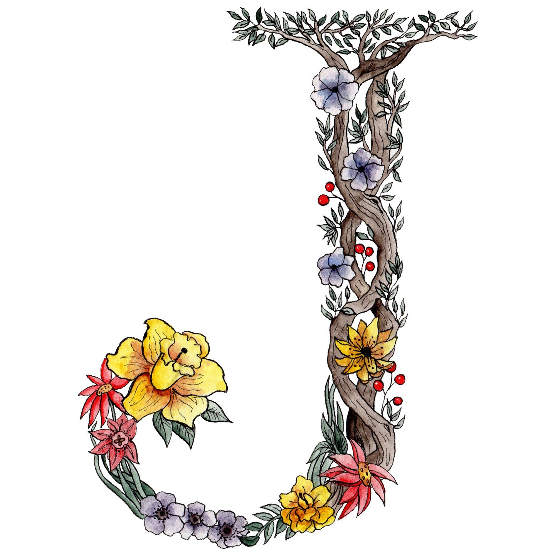 Clipart of flower letters that say pretty svg Botanical Letter Tutorial | Art & Doodling | Lettering tutorial ... svg