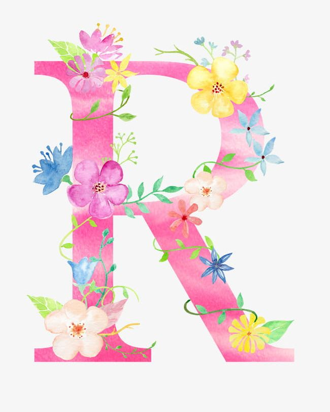 Library Of Image Library Stock Of Flower Letters That Say