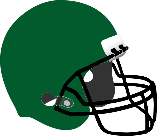 Football equipment clipart. Green helmet clip art